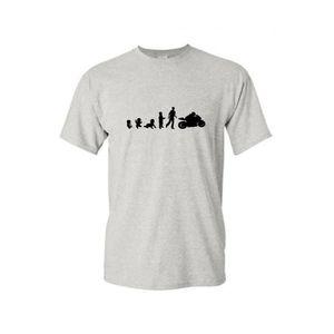 T-SHIRT T-shirt col rond enfant bébé moto bleu 12-14-ans