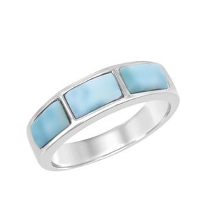 Large Long Turquoise Filigrane Bague Nouveau .925 Sterling Silver Band Taille 5-12