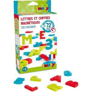 TABLEAU ENFANT SMOBY 72 Lettres & Chiffres Magnetiques Majuscules