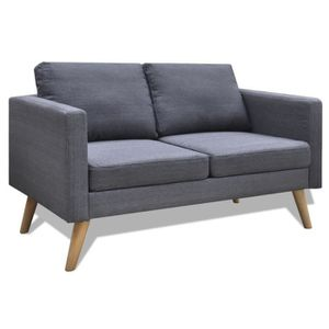 CANAPÉ - SOFA - DIVAN Canapé de 2 places de bureau ou maison en bois + t