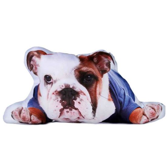 Bulldog chien tissu panneau faire coussin ameublement artisanat