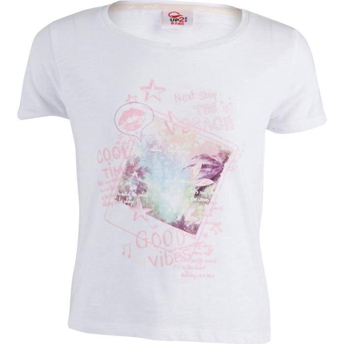 UP2GLIDE T-shirt Edona - Enfant fille - Blanc