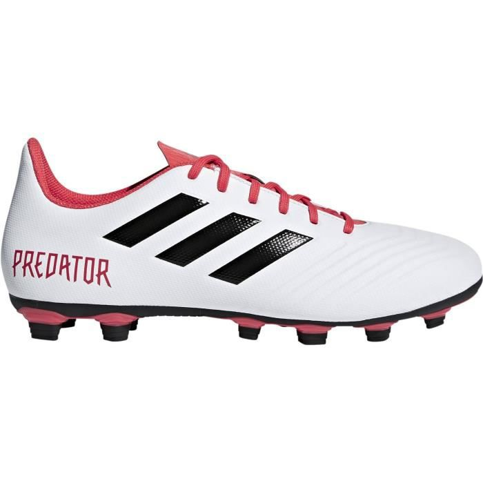 ADIDAS Chaussures de football Predator 18.4 FxG - Homme - Blanc