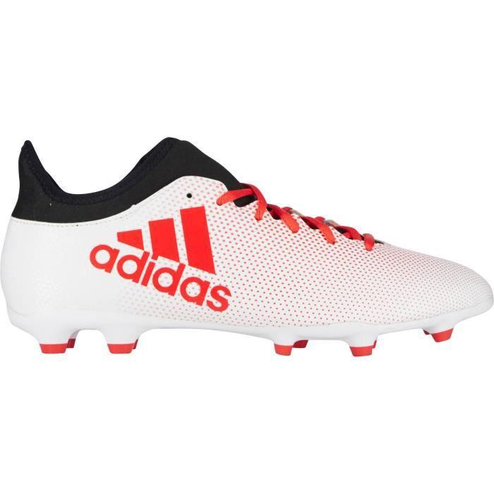 ADIDAS Chaussures de football X 17.3 FG - Mixte - Blanc