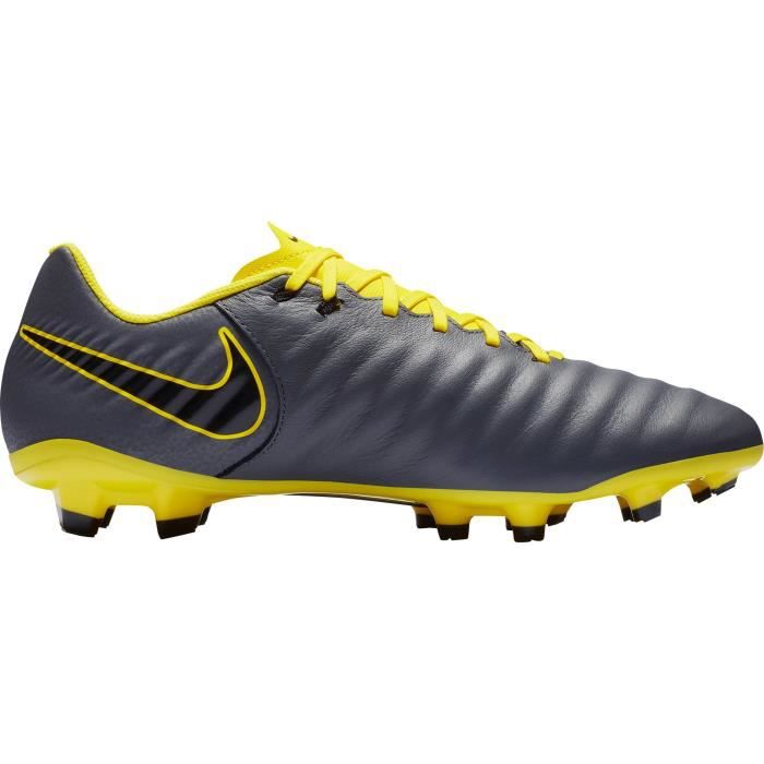 NIKE Chaussures de foot Legend 7 Academy FG - Homme - Gris et Jaune