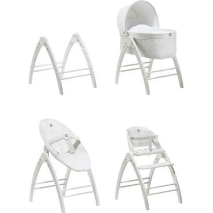 baby dan angel 3 en 1 couffin transat inclinable chaise haute blanc blanc achat vente. Black Bedroom Furniture Sets. Home Design Ideas
