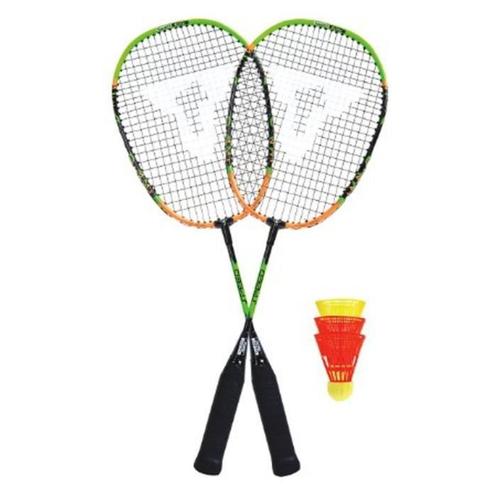 TALBOT TORRO Set de Badminton Speed - 2 raquettes - 3 volants