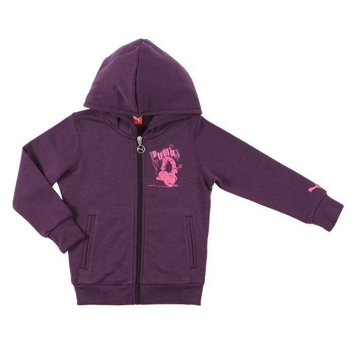 puma veste sweat zipp enfant fille violet et rose achat vente ring cage cdiscount. Black Bedroom Furniture Sets. Home Design Ideas