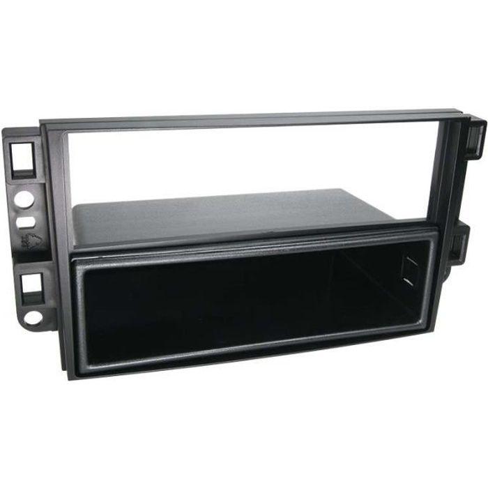 Adaptateur de façade 2-DIN avec vide poche Chevrolet noir