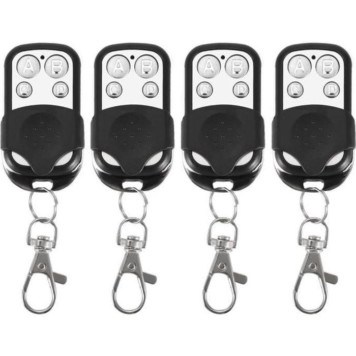 4pcs clonage universel télécommande sans fil porte-clés pour porte de porte de garage de voiture 433 mhz