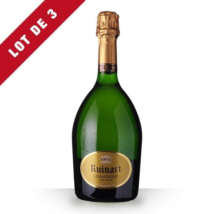 3X R de Ruinart Brut 75cl - Champagne