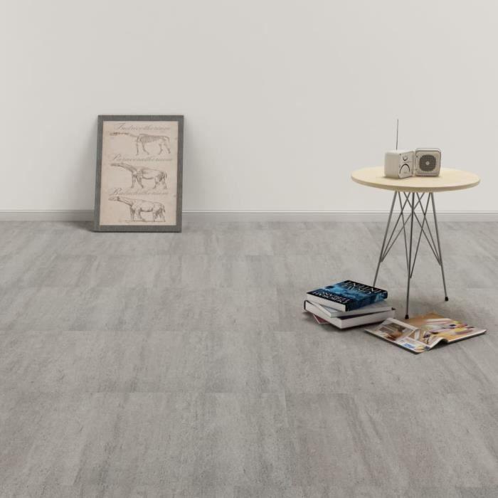 Planche de plancher PVC autoadhésif 5,11 m2 Gris pointillé