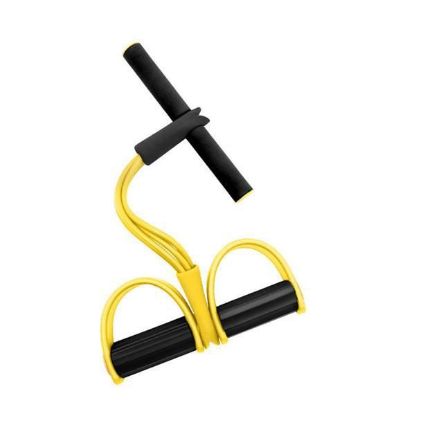 Bande de résistance élastique pour le fitness, sangles pour l'entraînement physique, travail abdominal-jaune