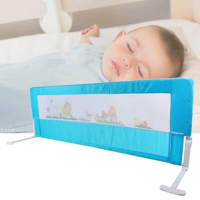 Qutianshop® Blue 150cm Folding Toddler Safety Bed Rail Kids Sleep Guard Protection
