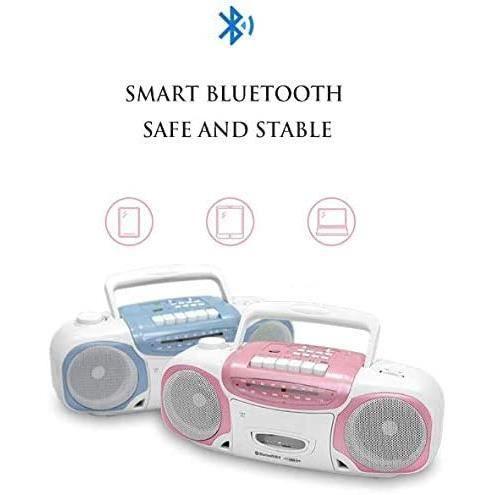 ZXCV Lecteur CD Bluetooth Boombox, magnétophone à Cassettes, Radio FM