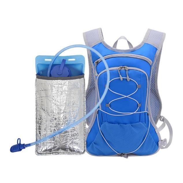 Van 15L Sac à Dos VTT,Portable Bag Sac à Dos d'hydratation avec 2L Poche à Eau,Respirant et Léger, pour Camping Randonnée équitation