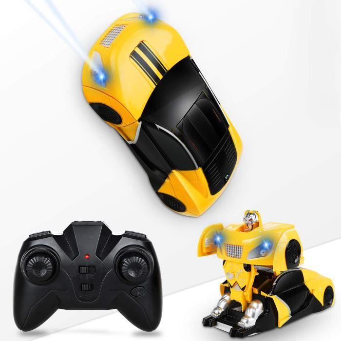 RC Voiture Mur Grimpeur Rapide Voiture de Course Anti-gravité Transformable Robot et Deux Modes Cool Jouets pour Garçons 6-10 Ans