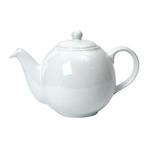 Dexam London Pottery 2 Cup Globe Teapot White - 172 20110