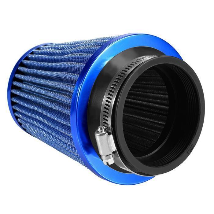 Filtre à Air d'Admission, Filtre à Air Universel de Voiture Filtre à Air de Haut Débit pour Automobiles, Bleu, 20x18x18cm -LAT