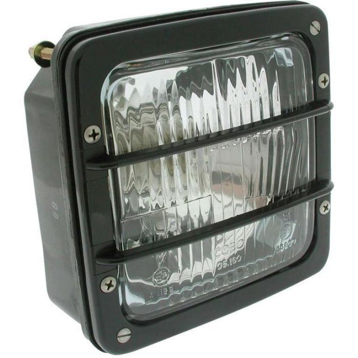 Feu avant adaptable avec 2 ampoules - L: 140mm, H: 140mm