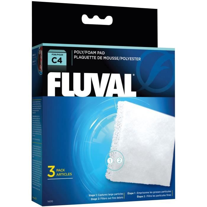 FLUVAL Plaquette mousse/polyester C4,3unité - Pour poisson