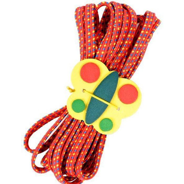 Jeu de l elastique 500 cm Rouge Jeu de cour de recreation pour fille 6 ans et