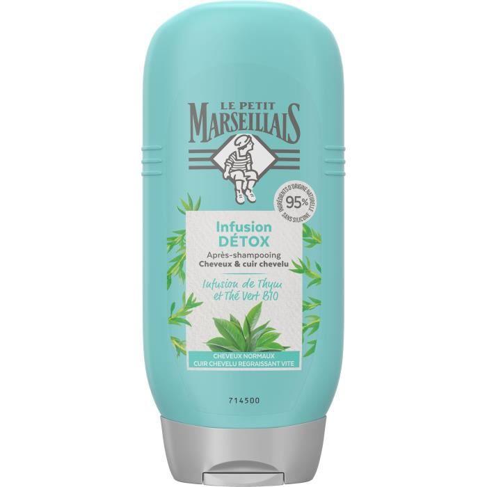 LE PETIT MARSEILLAIS Après-shampooing - Infusion Detox Thym et The Vert Bio - Flacon de 250 ml