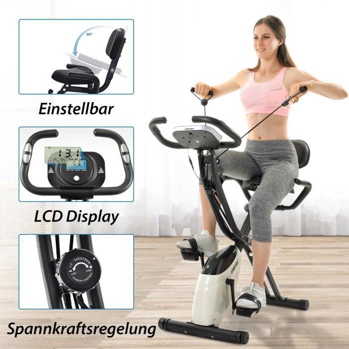 Nouveauté FIT BIKE - Vélo de fitness pliable magnétique pour le cyclisme en salle d'entraînement cardio - Expédié d'Allemagne