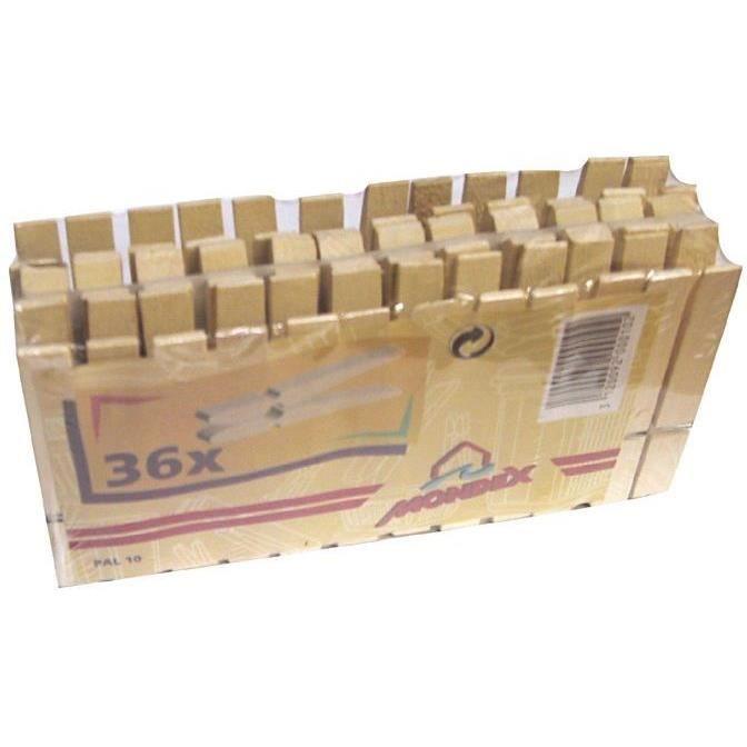 MONDEX - Pince linge bois sachet de 36 75x9