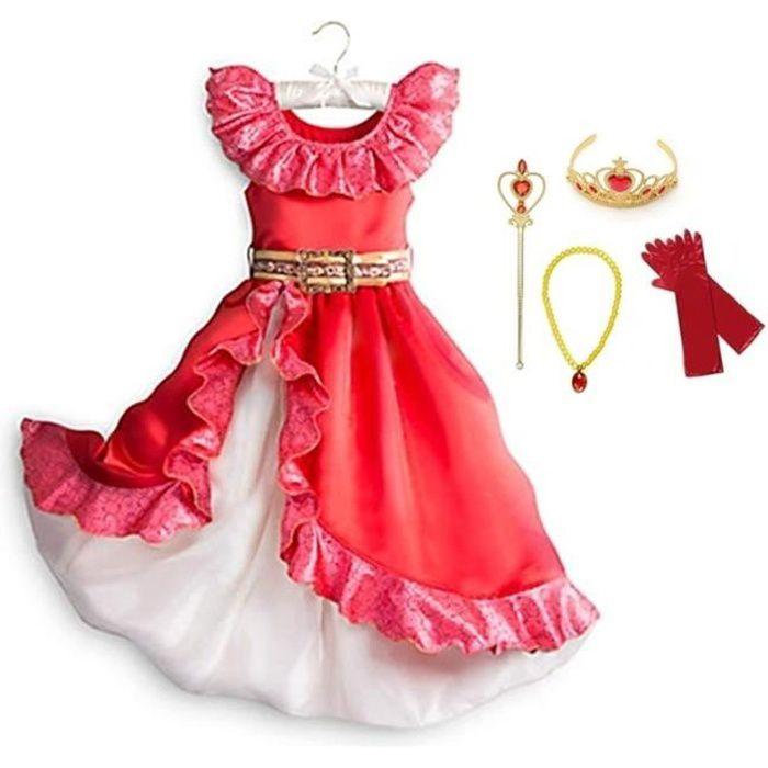 Déguisement Princesse Robe Cosplay pour Enfants + 4 Accessoires