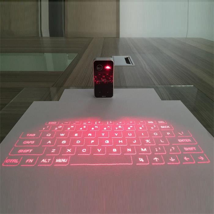 Mini Portable Laser Virtuel Clavier de projection et souris pour tablette pc