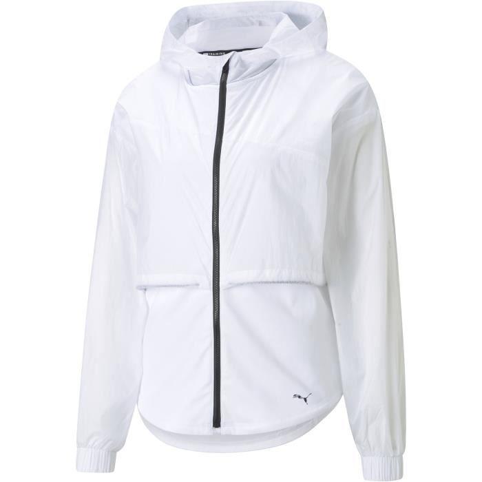 Veste à capuche - PUMA - Train Ultra Hooded Jacket - Blanc