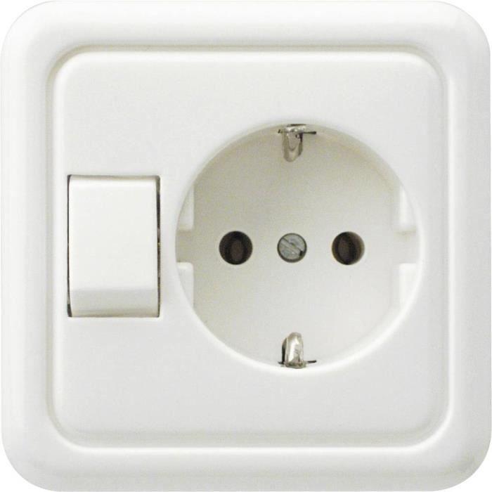 REV Interrupteur va-et-vient blanc 0500110551 - INTERRUPTEUR ELECTRONIQUE