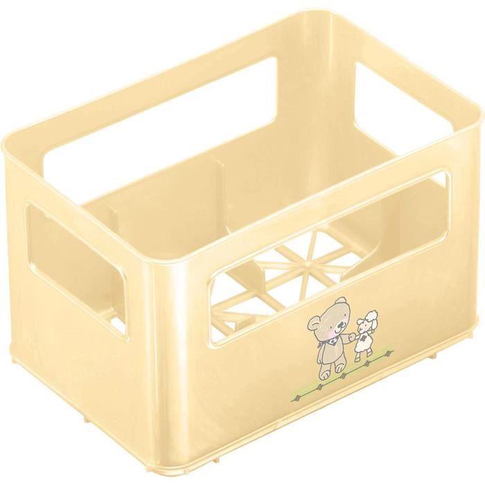 Rothobabydesign Rotho Babydesign Casier à Biberon, Pour 6 bouteilles, Motif Meilleurs Amis, 21,5 x 14,5 x 13,6 cm, Vanille Perl, -