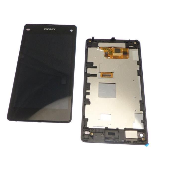 ECRAN LCD + VITRE TACTILE SONY XPERIA Z1 COMPACT D5530 ORIGINAL NOIR