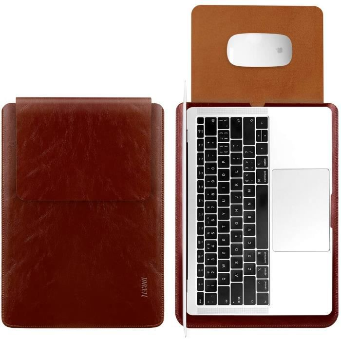 13 Pouce Housse Protection pour Macbook Air - Macbook Pro, TECOOL Laptop Sleeve Pochette Étui Sacoche pour HP Envy Dell XPS -Marron