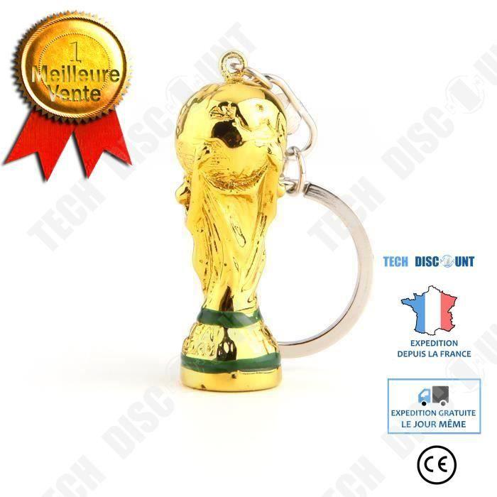 TD® 2018 Trophée de Coupe du monde Russie Porte-clés de football équipe Boucle