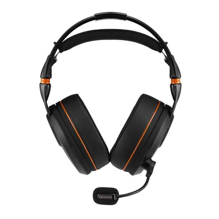 TURTLE BEACH Micro-Casque Gamer Elite Pro - Sans fil - Impédance (Ohm) 50 Ohm - PC, Playstation, Xbox - Noir / Orange