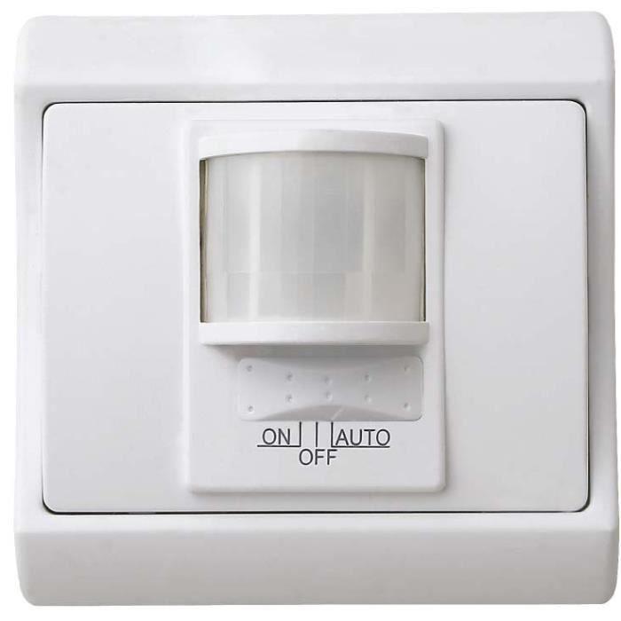 VOLTMAN Interrupteur détecteur de mouvement à encastrer 500 W