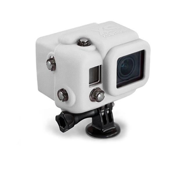 XSORIES Housse en silicone avec Capuche pour GoPro HD Hero3 - Blanc