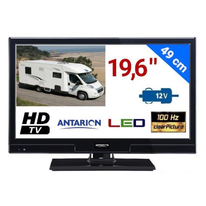 """Téléviseur LED ATVLT20 - TÉLÉVISEUR LED 19""""6 49cm 12V HD TNTHD TV"""