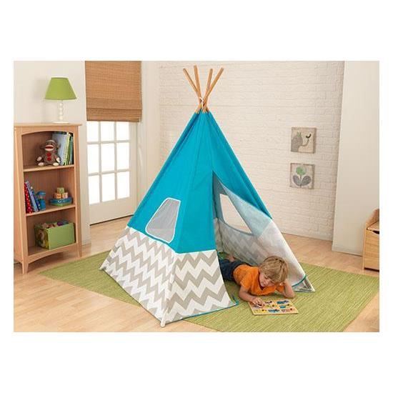 tente tipi d 39 indien pour chambre d 39 enfant turquois achat. Black Bedroom Furniture Sets. Home Design Ideas