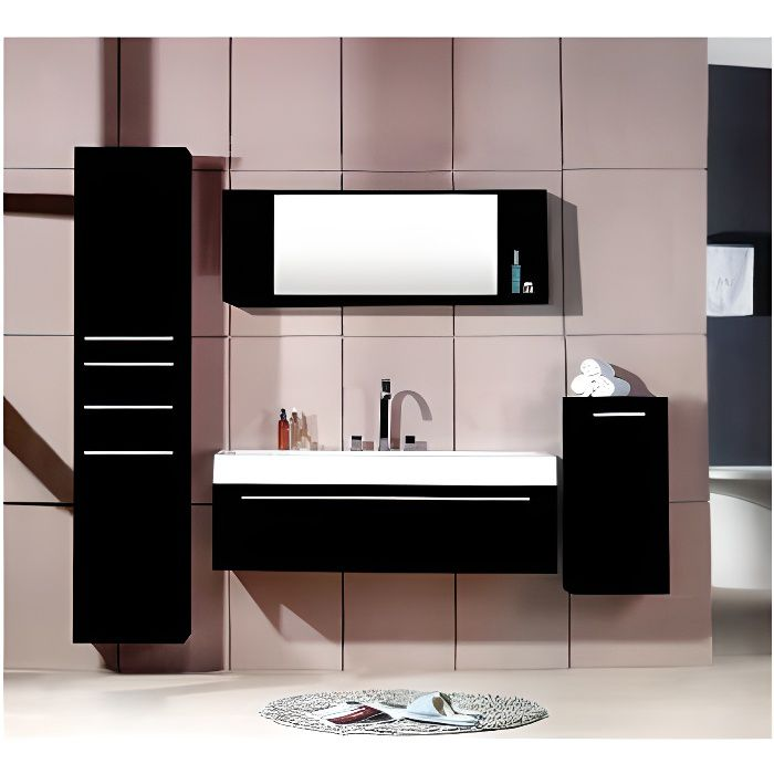 Meuble salle de bain wenge 120 cm