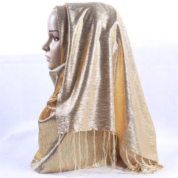 ECHARPE - FOULARD Gold Shimmer Étincelle Glitters en Mousseline de o