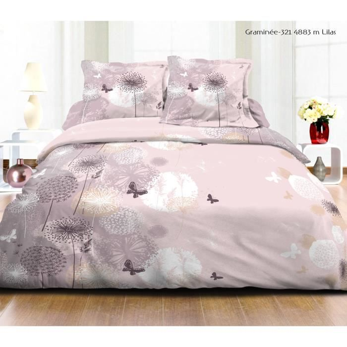 parure de lit butterfly rose t2 achat vente parure de drap cdiscount. Black Bedroom Furniture Sets. Home Design Ideas