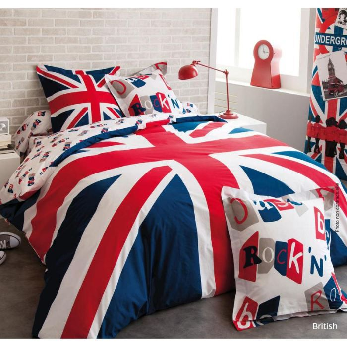 housse de couette british achat vente housse de couette cdiscount. Black Bedroom Furniture Sets. Home Design Ideas