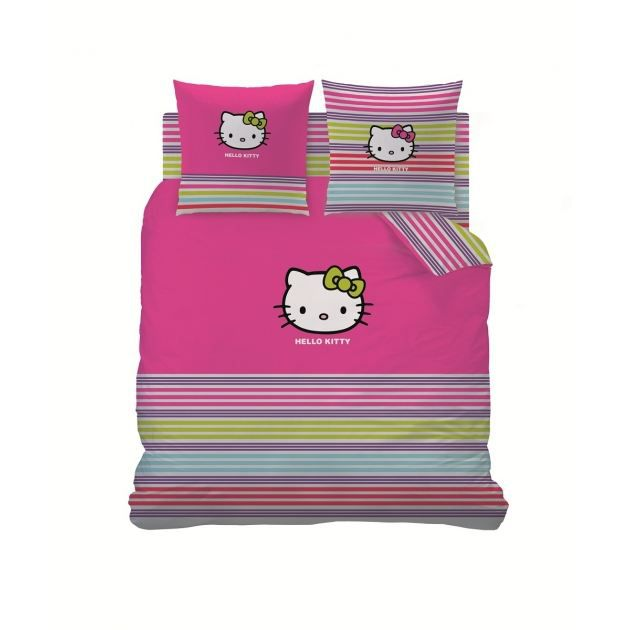 hello kitty parure de lit housse de couette achat vente parure de couette cdiscount. Black Bedroom Furniture Sets. Home Design Ideas