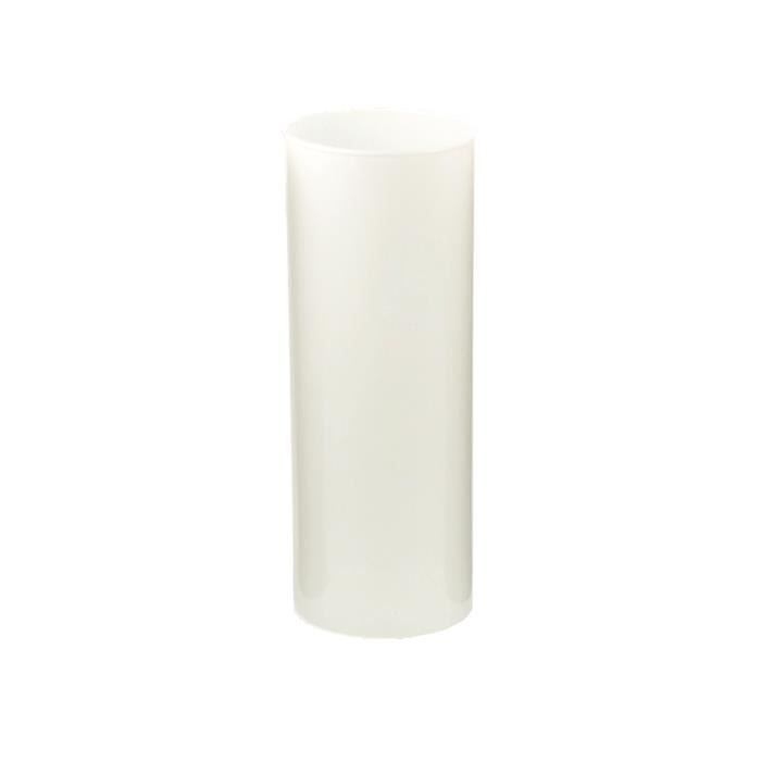 vase tube verre opaque blanc hauteur 25cm achat. Black Bedroom Furniture Sets. Home Design Ideas