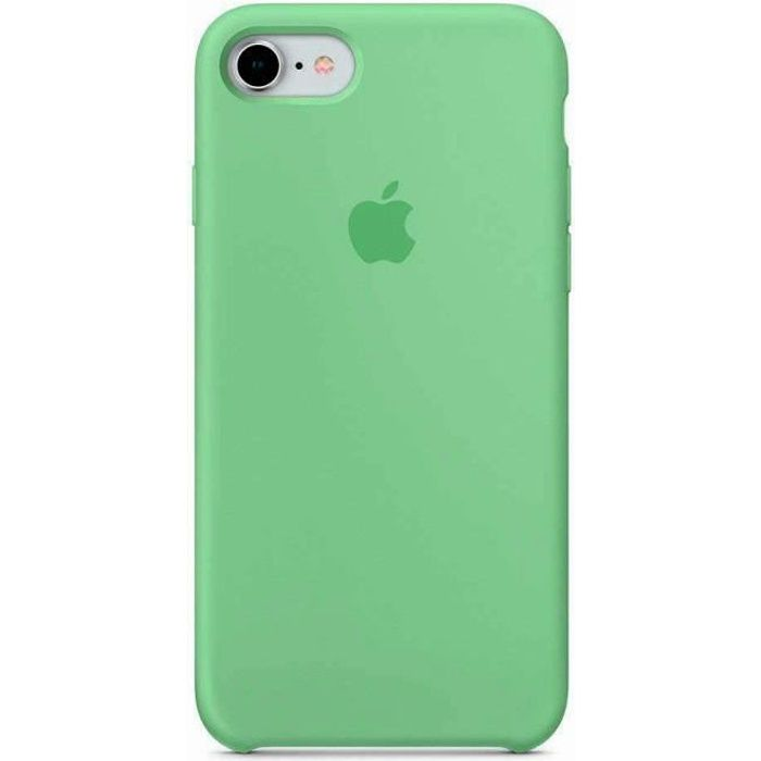 apple coque en silicone iphone 7 8 4 7 vert