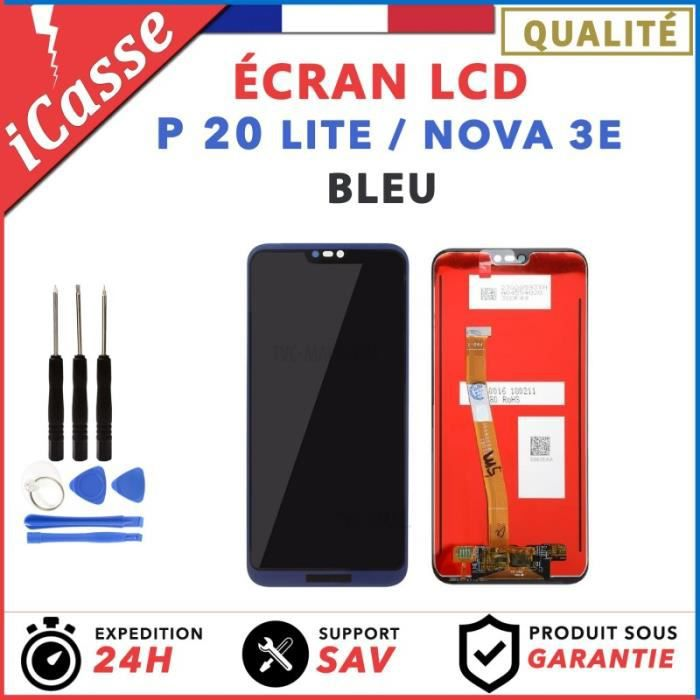 ECRAN DE TÉLÉPHONE ECRAN LCD + VITRE TACTILE POUR HUAWEI P20 LITE / N